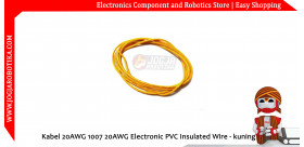 Kabel 20AWG 1007 20AWG Electronic PVC Insulated Wire - Kuning