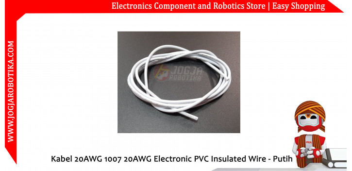 Kabel 20AWG 1007 20AWG Electronic PVC Insulated Wire - Putih