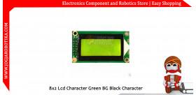 8x2 Lcd Character Green BG Black Character