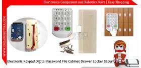 Electronic Keypad Digital Password File Cabinet Drawer Locker Security