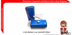 Li-ion Battery 7.4v 1500mAh 18650