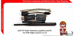 3DR FPV Radio Telemetry 433MHz 500mW for APM Flight Control 2.6 2.8