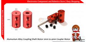 Alumunium Alloy Coupling Shaft Motor 2mm to 4mm Coupler Coupling Motor