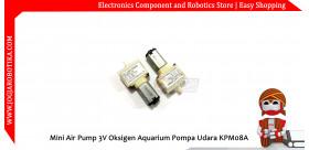 Mini Air Pump 3V Oksigen Aquarium Pompa Udara KPM08A