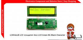 LCM1602B LCD 122x44mm 16x2 LCD Green BG Black Character