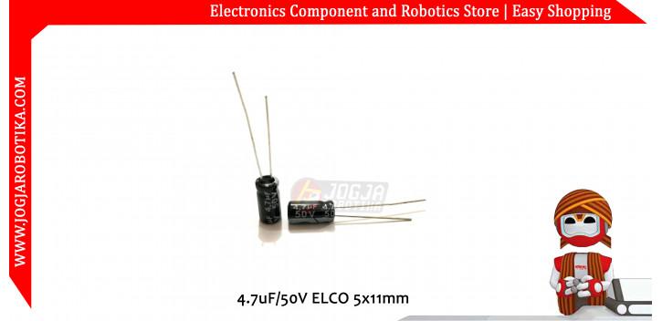 4.7uF/50V ELCO 5x10mm