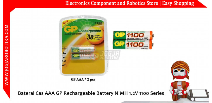 Baterai Cas AAA GP Rechargeable Battery NIMH 1.2V 1100 Series