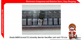 Dioda MBRF20100CTG Schottky Barrier Rectifier 20A 100V TO-220