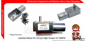 Gearbox Motor DC JGY370 High Torque 12V 18RPM