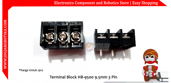 Terminal Block HB-9500 9.5mm 3 Pin