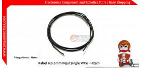 Kabel 1x0.6mm Pejal Single Wire - Hitam