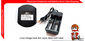 Li-ion Charger-Dual Slot 14500 18650 with Cable