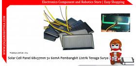 Solar Cell Panel 68x37mm 5v 60mA Pembangkit Listrik Tenaga Surya