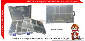 Kotak Box Storage Plastik Komponen Double 2 Susun 8 Sekat Multifungsi