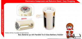 Box Baterai 3x AA Parallel To D Size Battery Holder