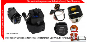 Box Battery Baterai 4x 18650 Case Waterproof USB 5V 8.4V for Bicycle