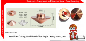 Laser Fiber Cutting Head Nozzle Tips Single Layer 32mm - 3mm