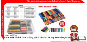 Paket Heat Shrink Tube Tubing 328 Pcs Isolasi Selang Bakar dengan Box