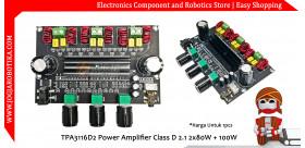TPA3116D2 Power Amplifier Class D 2.1 2x80W + 100W