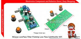 NE5532 LowPass Filter PreAmp Low Pass SubWoofer HiFi
