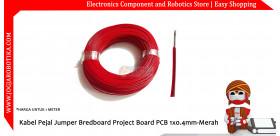Kabel Pejal Jumper Bredboard Project Board PCB 1x0.4mm-Merah