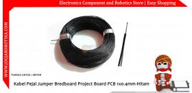 Kabel Pejal Jumper Bredboard Project Board PCB 1x0.4mm-Hitam