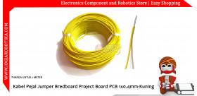 Kabel Pejal Jumper Bredboard Project Board PCB 1x0.4mm-Kuning