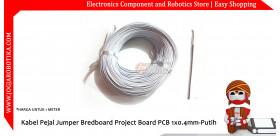 Kabel Pejal Jumper Bredboard Project Board PCB 1x0.4mm-Putih