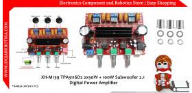 XH-M139 TPA3116D2 2x50W + 100W Subwoofer 2.1 Digital Power Amplifier