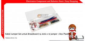 Kabel Jumper Set untuk Breadboard 14 Jenis x 10 jumper + Box Plastik