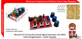 XR2206 DIY Kit Function Sinyal Signal Generator 1HZ-1MHZ Sine/Triangle/Square - Sudah Disolder