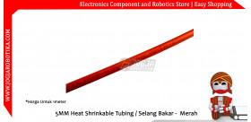 5MM Heat Shrinkable Tubing / Selang Bakar - Merah