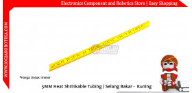 5MM Heat Shrinkable Tubing / Selang Bakar - Kuning
