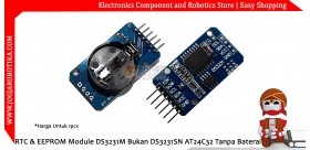 RTC & EEPROM Module DS3231M Bukan DS3231SN AT24C32 Tanpa Baterai