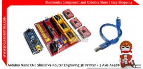 Arduino Nano CNC Shield V4 Router Engraving 3D Printer + 3 Axis A4988