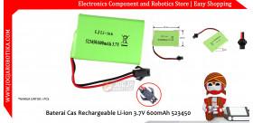 Baterai Cas Rechargeable Li-ion 3.7V 600mAh 523450