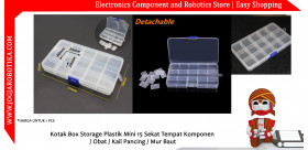 Kotak Box Storage Plastik 15 Sekat Tempat Komponen Obat Kail Pancing Mur Baut