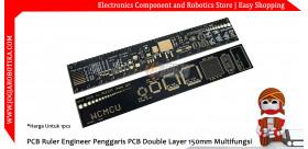 PCB Ruler Engineer Penggaris PCB Double Layer 150mm Multifungsi