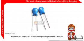 Kapasitor 101 100pF 0.1nF 2KV 2000V High Voltage Ceramic Capacitor