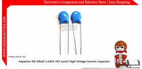 Kapasitor 681 680pF 0.68nF 2KV 2000V High Voltage Ceramic Capacitor