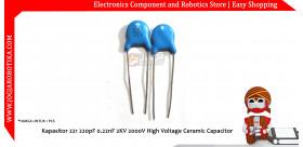 Kapasitor 221 220pF 0.22nF 2KV 2000V High Voltage Ceramic Capacitor