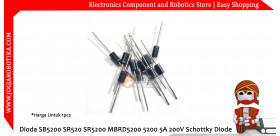 Dioda SB5200 SR520 SR5200 MBRD5200 5200 5A 200V Schottky Diode