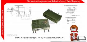 PA1A-24V Power Relay 24V 4 Pin NO Panasonic NAIS PA1A 24V