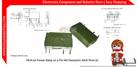 PA1A-5V Power Relay 5V 4 Pin NO Panasonic NAIS PA1A 5V