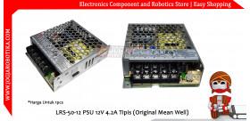 LRS-50-12 PSU 12V 4.2A Tipis (Original Mean Well)