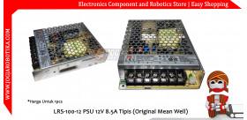 LRS-100-12 PSU 12V 8.5A Tipis (Original Mean Well)
