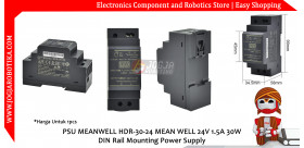 PSU MEANWELL HDR-30-24 MEAN WELL 24V 1.5A 30W DIN Rail Mounting Power Supply