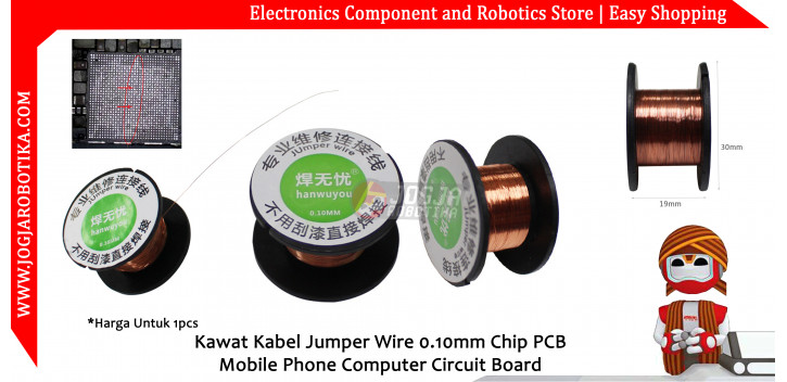 Kawat Kabel Jumper Wire 0.10mm Chip PCB Mobile Phone Computer Circuit Board
