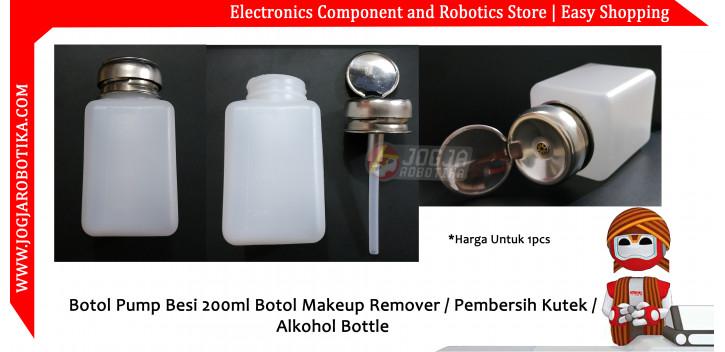 Botol Pump Besi 200ml Botol Makeup Remover / Pembersih Kutek / Alkohol Bottle