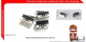 Micro Limit Switch kw10-3 1A 125V AC